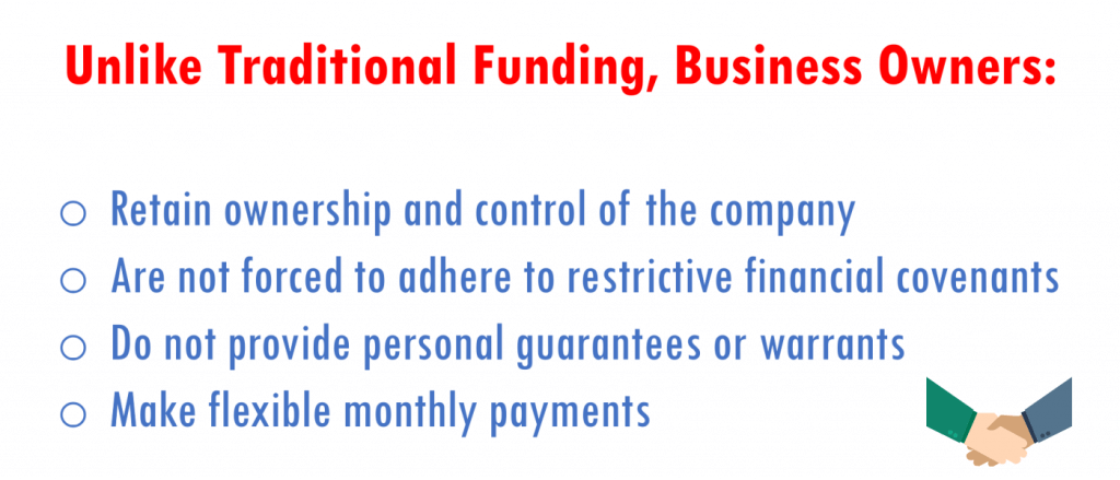 Royalty based finance benefits